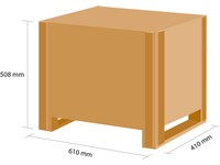 Dřevěná bedna KLAPPY S2 580x380x380 mm