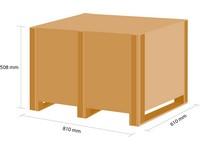 Dřevěná bedna KLAPPY S2 780x580x380 mm