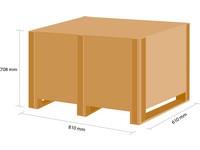 Dřevěná bedna KLAPPY S4 780x580x580 mm
