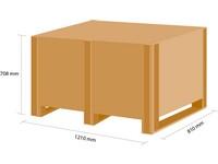 Dřevěná bedna KLAPPY S5 1180x780x580 mm