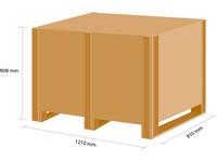 Dřevěná bedna KLAPPY S6 1180x780x780 mm