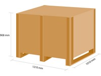Dřevěná bedna KLAPPY S6 1180x980x780 mm