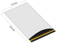 Samolepicí plastová obálka 175x255 mm s klopou (balení 100 ks)