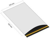 Samolepicí plastová obálka 225x325 mm s klopou (balení 100 ks)