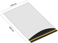 Samolepicí plastová obálka 350x450 mm s klopou (balení 100 ks)